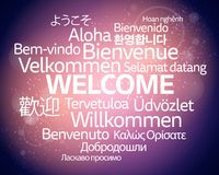 Un fond bienvenu multilingue Photos libres de droits