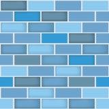 Un fond bleu différent sans couture de modèle de mur de briques de couleur pour la conception de contexte dans les affaires et l' illustration libre de droits