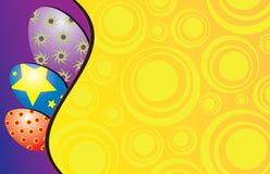 Un fond coloré de Pâques Images libres de droits