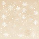 Un fond d'hiver avec la chute de flocons de neige Image libre de droits