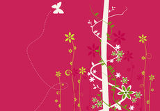 Un fond de conception florale Photos libres de droits