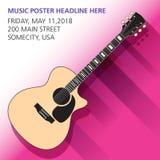 Un fond de guitare acoustique Photo stock
