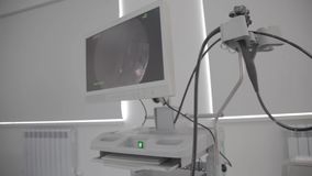 Un fond de matériel médical, machine en gros plan d'ultrason équipement de diagnostic d'ultrason banque de vidéos
