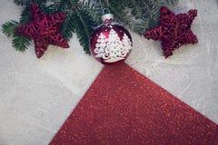 Un fond de Noël de ciment photos libres de droits