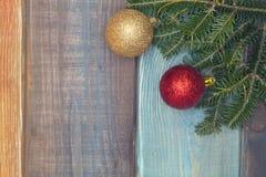 Un fond de Noël en bois coloré ou de nouvelle année Image stock