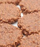 Un fond de riz de chips de chocolat Photographie stock