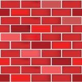 Un fond différent sans couture de modèle de mur de briques de couleur rouge illustration stock