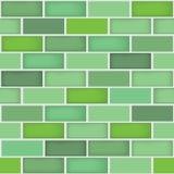Un fond différent sans couture de modèle de mur de briques de couleur verte illustration libre de droits