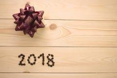 Un fond en bois clair de Noël Photo libre de droits