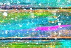Un fond en bois peint en couleurs Fond abstrait vide avec l'effet en baisse de neige photo libre de droits