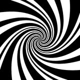 Un fond en spirale noir et blanc d'illusion optique Vect courant illustration de vecteur