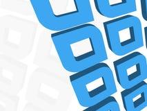 Un fond gras du bleu 3d Illustration Stock