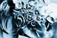 Un fond liquide en métal de chrome Image libre de droits