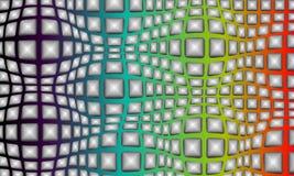 Un fond multicolore abstrait avec une sensation courbante ou de recourbement, fond, papier peint, illustration de vecteur illustration libre de droits
