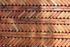 Un fond rouge de mur de briques photo libre de droits