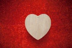 Un fond rouge de scintillement, fausse pierre, cadeau de jour du ` s de Valentine pour Photo libre de droits