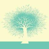 Un fondo abstracto del árbol de la música ilustración del vector