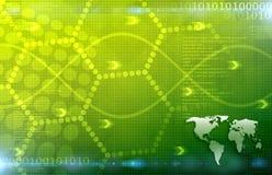 Un fondo Art Texture di verde dell'estratto di affari globali Immagine Stock Libera da Diritti