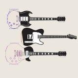 Un fondo astratto di musica della chitarra illustrazione di stock