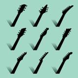 Un fondo astratto di musica della chitarra illustrazione vettoriale