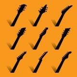 Un fondo astratto di musica della chitarra royalty illustrazione gratis
