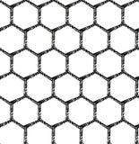 Un fondo blanco y negro del modelo hexagonal inconsútil Fotografía de archivo