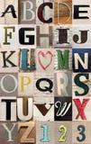 un fondo capitale di 26 alfabeti delle lettere Fotografia Stock