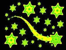 Un fondo cobarde amarillo y verde stock de ilustración