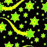 Un fondo cobarde amarillo y verde de las estrellas libre illustration
