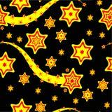 Un fondo cobarde inconsútil rojo y amarillo ilustración del vector