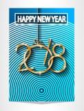 Un fondo da 2018 buoni anni per i vostri inviti di tema stagionali delle alette di filatoio e della cartolina d'auguri o di Natal illustrazione vettoriale