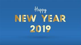 Un fondo da 2019 buoni anni per il fondo stagionale delle alette di filatoio e della cartolina d'auguri o degli inviti con i fuoc illustrazione vettoriale