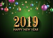 Un fondo da 2019 buoni anni per le vostri alette di filatoio e Gree stagionali Immagini Stock