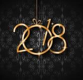 Un fondo da 2018 buoni anni per le vostri alette di filatoio e Gree stagionali illustrazione vettoriale