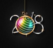 Un fondo da 2018 buoni anni per le vostri alette di filatoio e Gree stagionali royalty illustrazione gratis