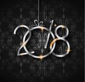 Un fondo da 2018 buoni anni per le vostri alette di filatoio e Gree stagionali illustrazione di stock