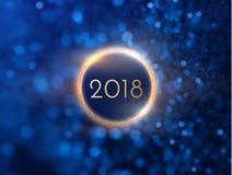 Un fondo da 2018 nuovi anni Vettore eps10 Immagini Stock Libere da Diritti
