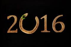 Un fondo da 2016 nuovi anni vi che augura buona fortuna Immagini Stock