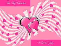 Un fondo dei biglietti di S. Valentino Fotografia Stock Libera da Diritti