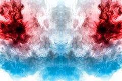Un fondo del humo ondulado azul, rojo y gris en la forma de a stock de ilustración