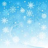 Un fondo del invierno con caer de los copos de nieve Fotografía de archivo