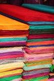 Fondo colorido de la tela Fotos de archivo
