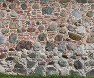 Un fondo del mattone differente del modello due e delle pareti di pietra Fotografia Stock