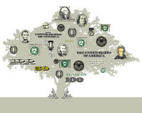 Un fondo dell'albero dei soldi royalty illustrazione gratis