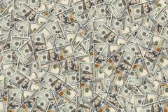 Un fondo di 100 banconote in dollari struttura monetaria La ricchezza del concetto I grandi profitti Milione U S bucks fotografia stock libera da diritti