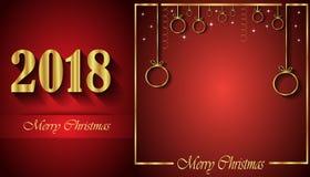 Un fondo di 2018 Buon Natale fotografie stock libere da diritti