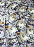 Un fondo di cento dollari americani di banconote Immagine Stock Libera da Diritti