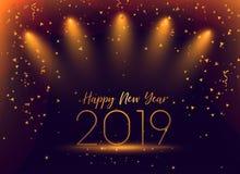 un fondo di 2019 del nuovo anno coriandoli di celebrazione illustrazione vettoriale