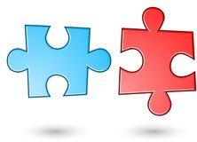 Un fondo di due puzzle Immagini Stock Libere da Diritti