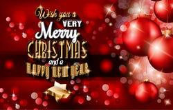 Un fondo di Natale felice e da 2015 nuovi anni Fotografie Stock Libere da Diritti